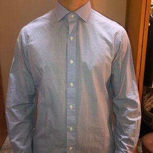 POLO Ralph Lauren Men's Blue Estate Dress Shirt